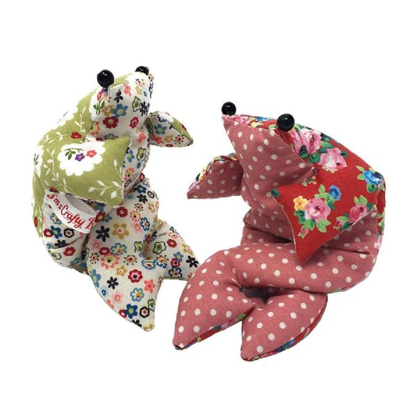 The Crafty Kit Co. Bean Bag Frog Beginners Sewing Kit Makes 2 Frogs